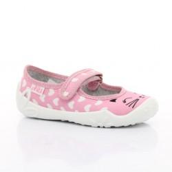 Детски пантофи ARS Kids, Pink/Hearts/Cat