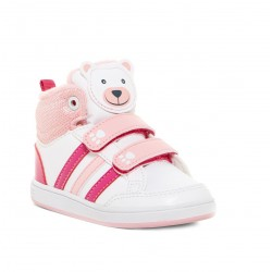 Детски кецове Adidas Hoops Animal, White/Pink