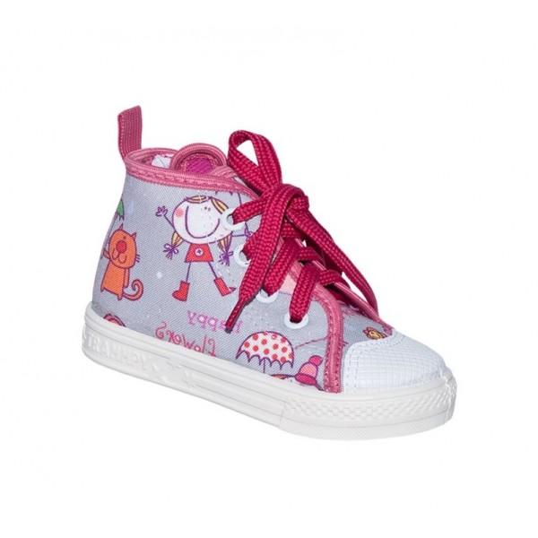 Детски кецове Trammpy, Ala, Grey/Pink