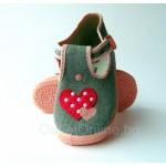 Детски пантофи Zetpol Infant, Daria, Grey/Hearts